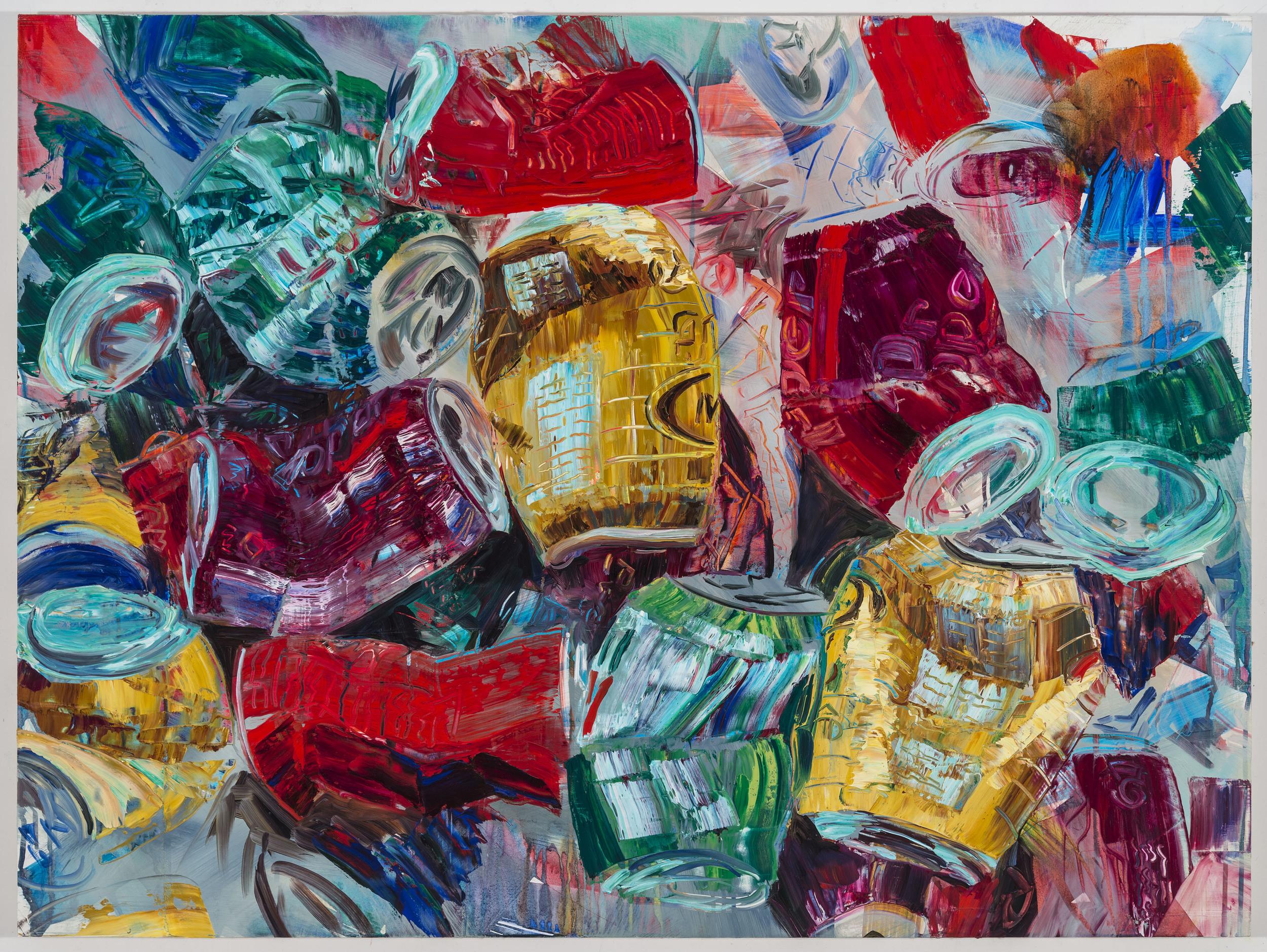 "Crush #2, 30""x40"", oil on panel, 2013"