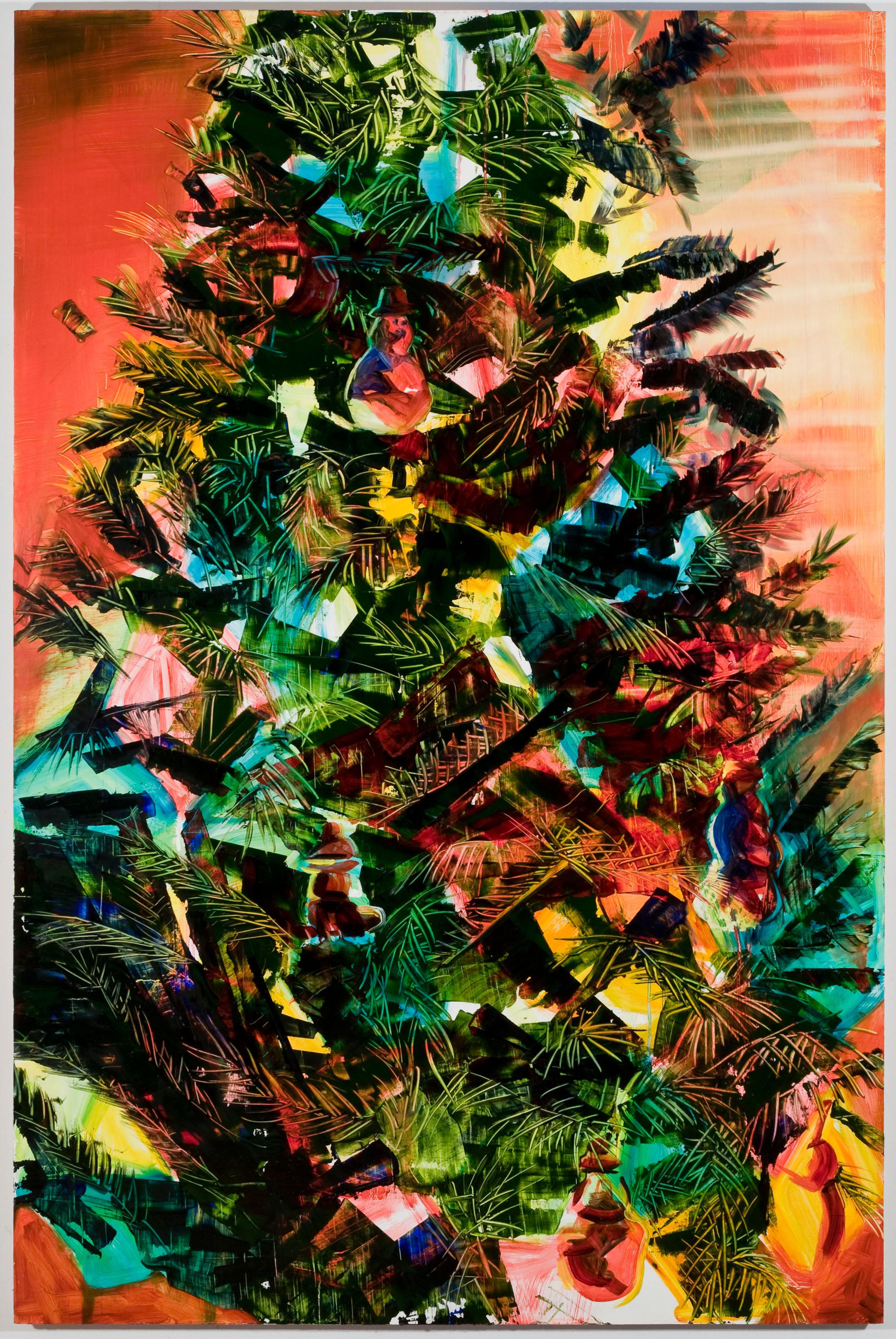 """Sunset Pine, 60""""x40"""", oil on panel, 2013"""