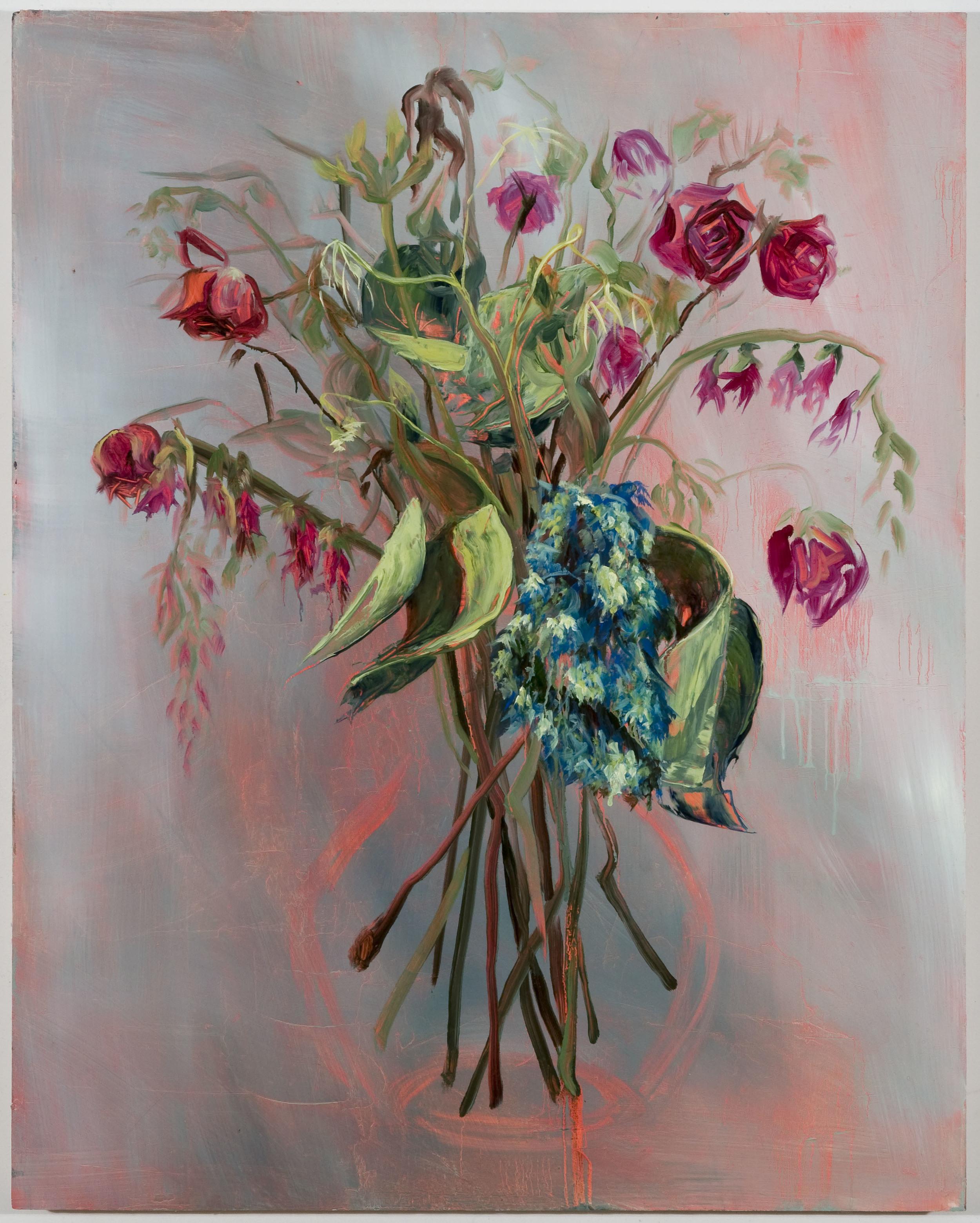 "Blue Monday, 30""x24"", oil on panel, 2012"