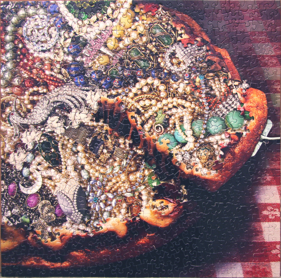 Diamonds and Pearls, Puzzle collage