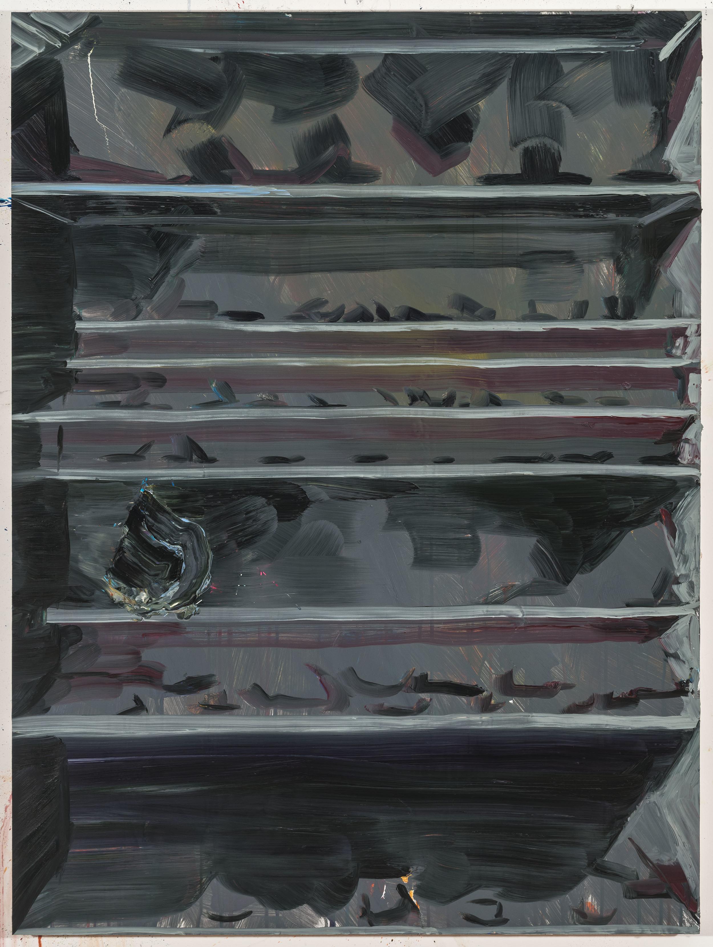 "Shadows, 40""x30"", oil on panel, 2015"