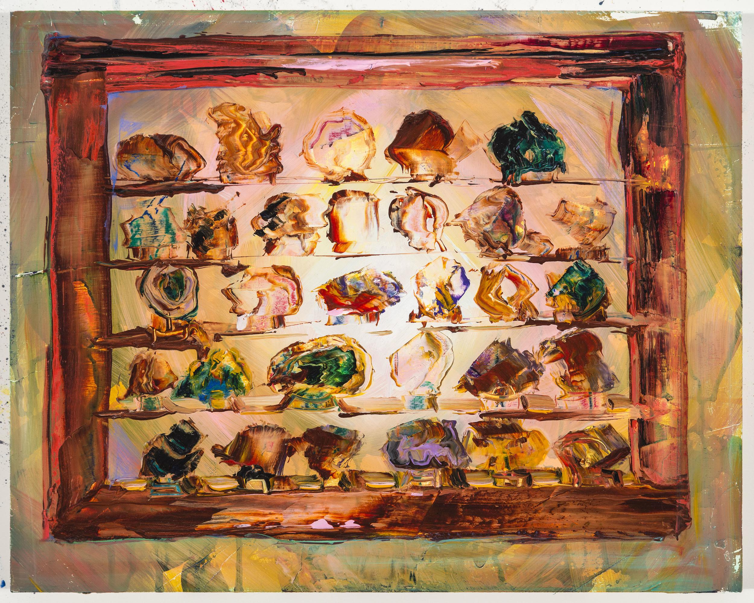"""Sunspots, 14""""x16"""", oil on panel, 2015"""