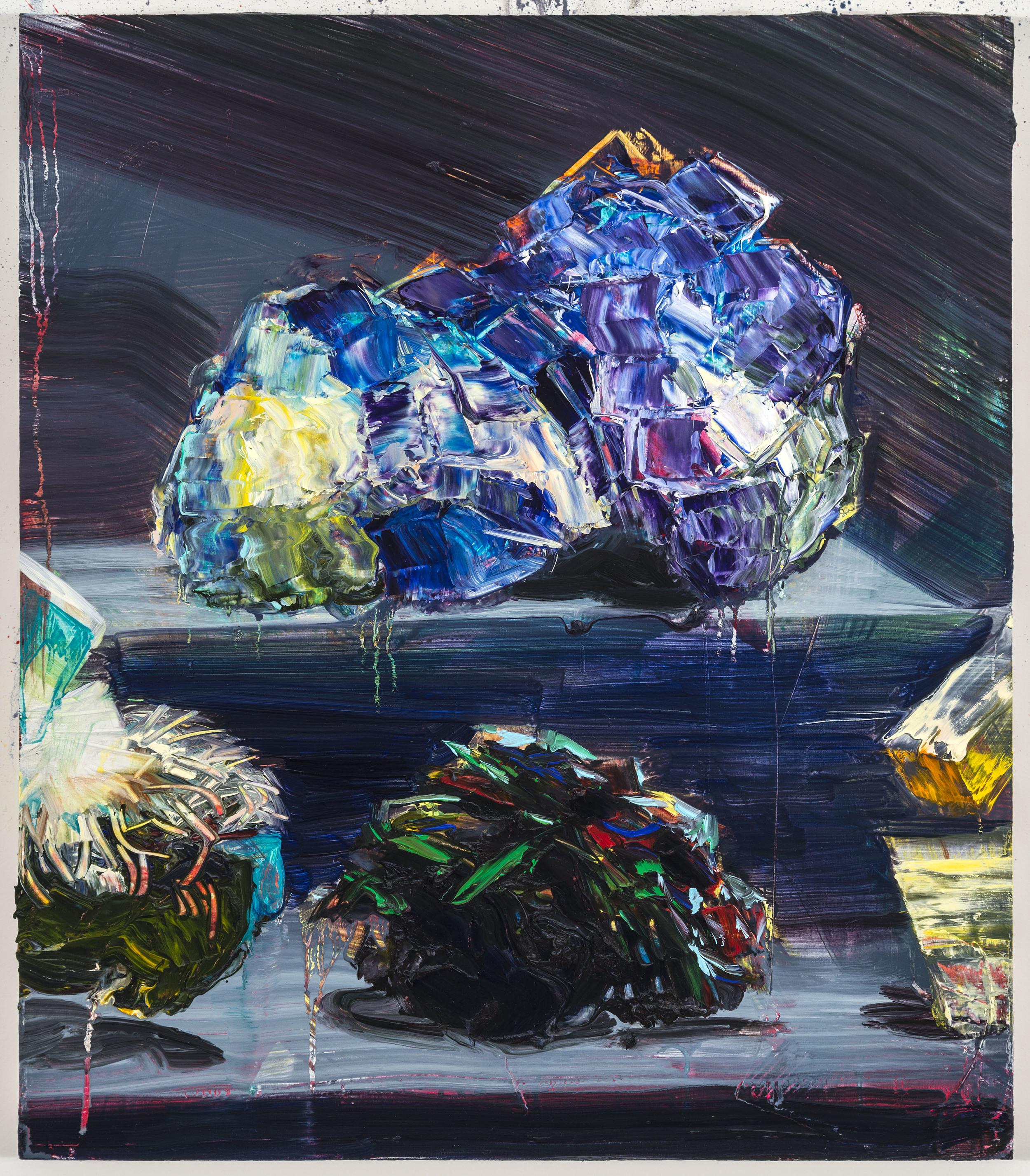 """Disco Asteroid, 20""""x16"""", oil on panel, 2014"""