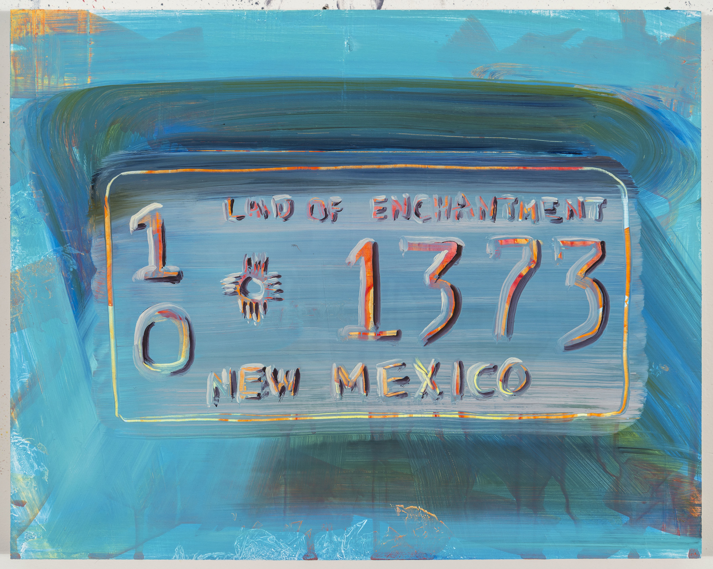 """Land of Enchantment, 12""""x15"""", oil on panel, 2014"""