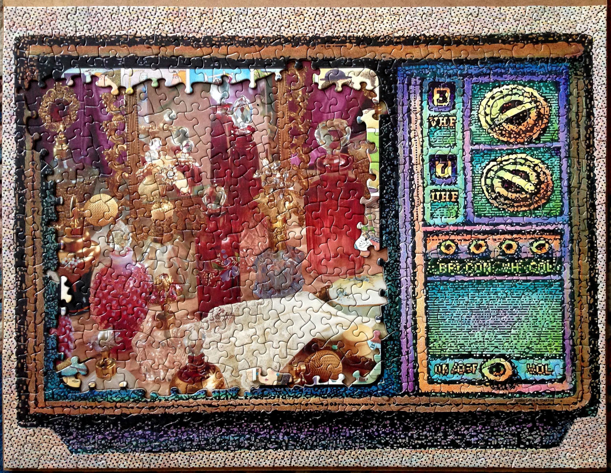 QVC, puzzle collage, 2015