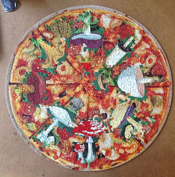 Mushroom Pizza, puzzle collage