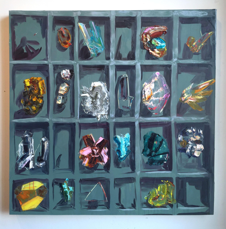"Rox, 36""x36"", oil on panel, 2015"