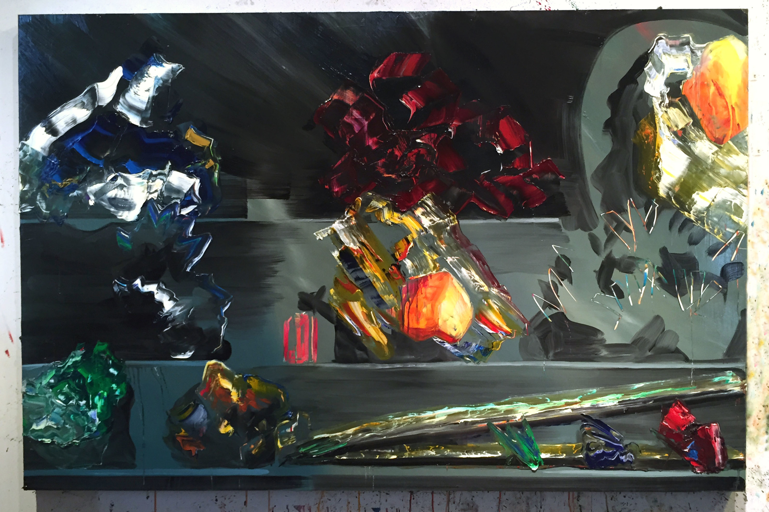 "Break Away, 40""x60"", oil on panel, 2016"