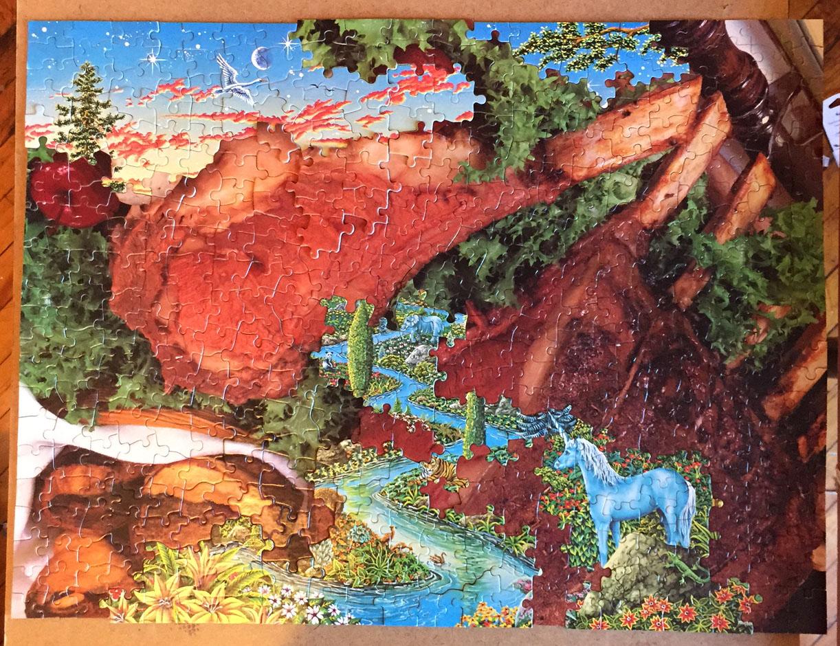 Fanta-C3, Journey through Tenderloin Pass a.k.a Garnish Eclipse, puzzle collage