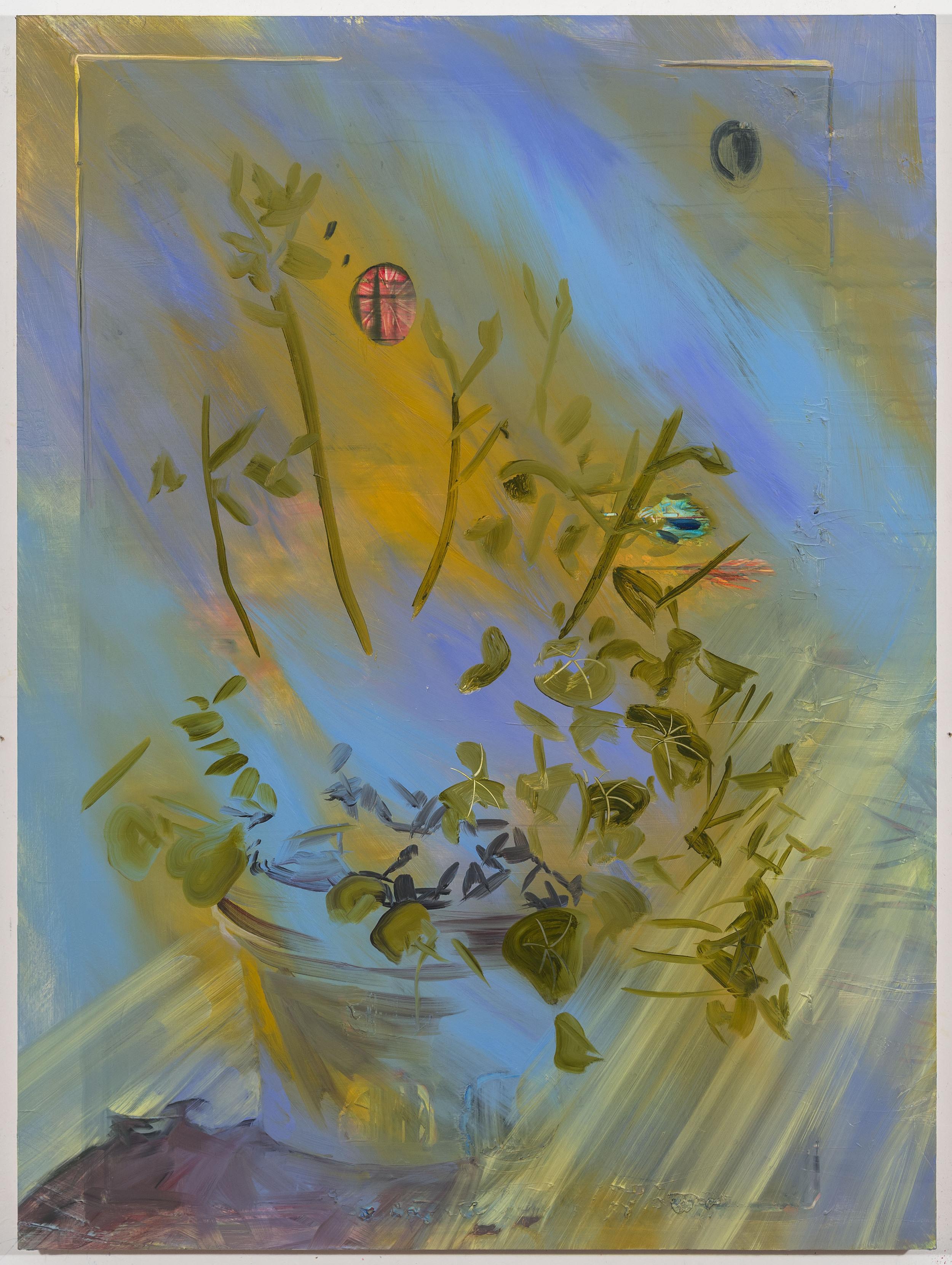 """Harvest Moon, 40""""x30"""", oil on panel, 2015"""