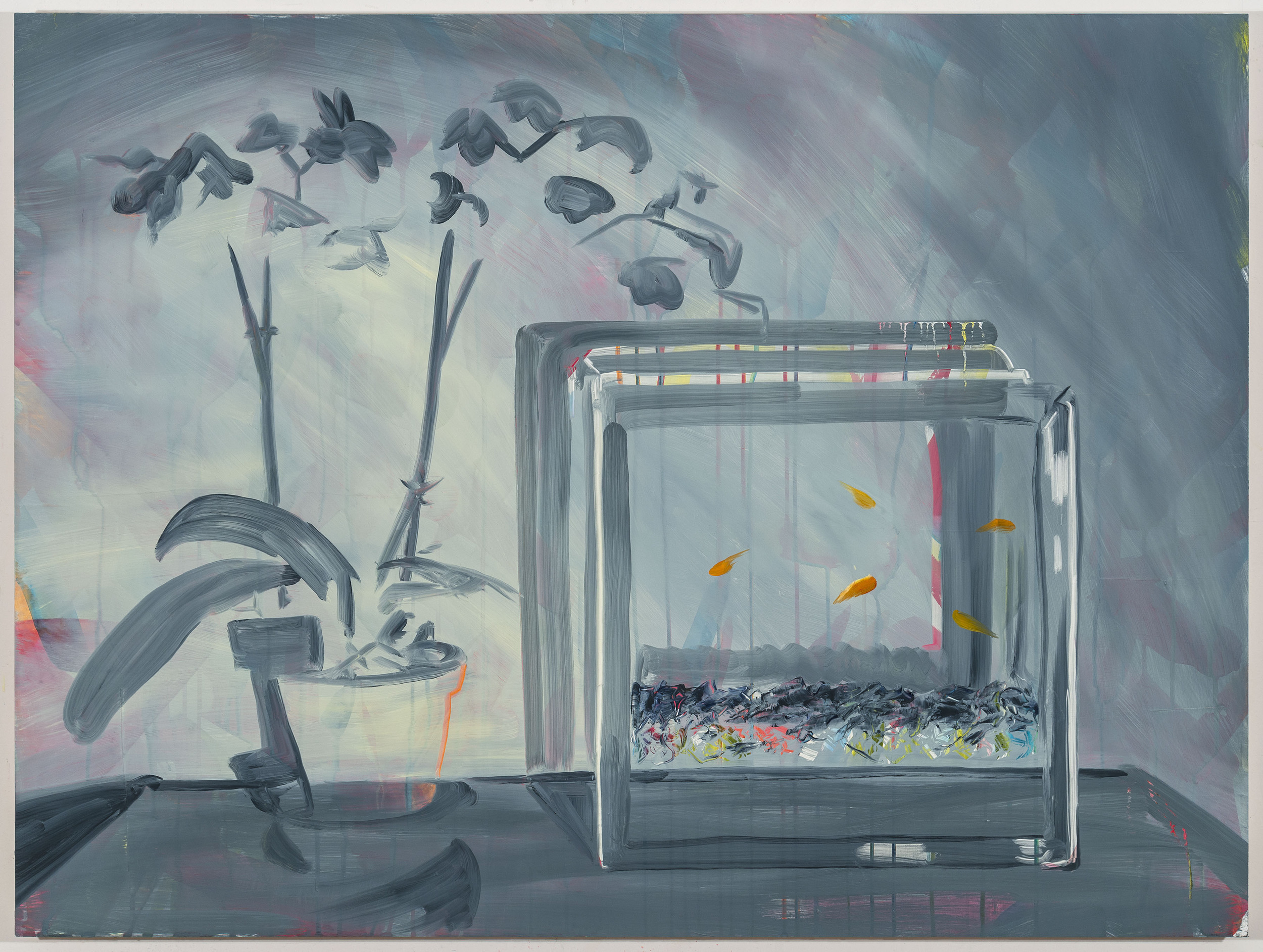 "Overcast, 30""x40"", oil on panel, 2016"