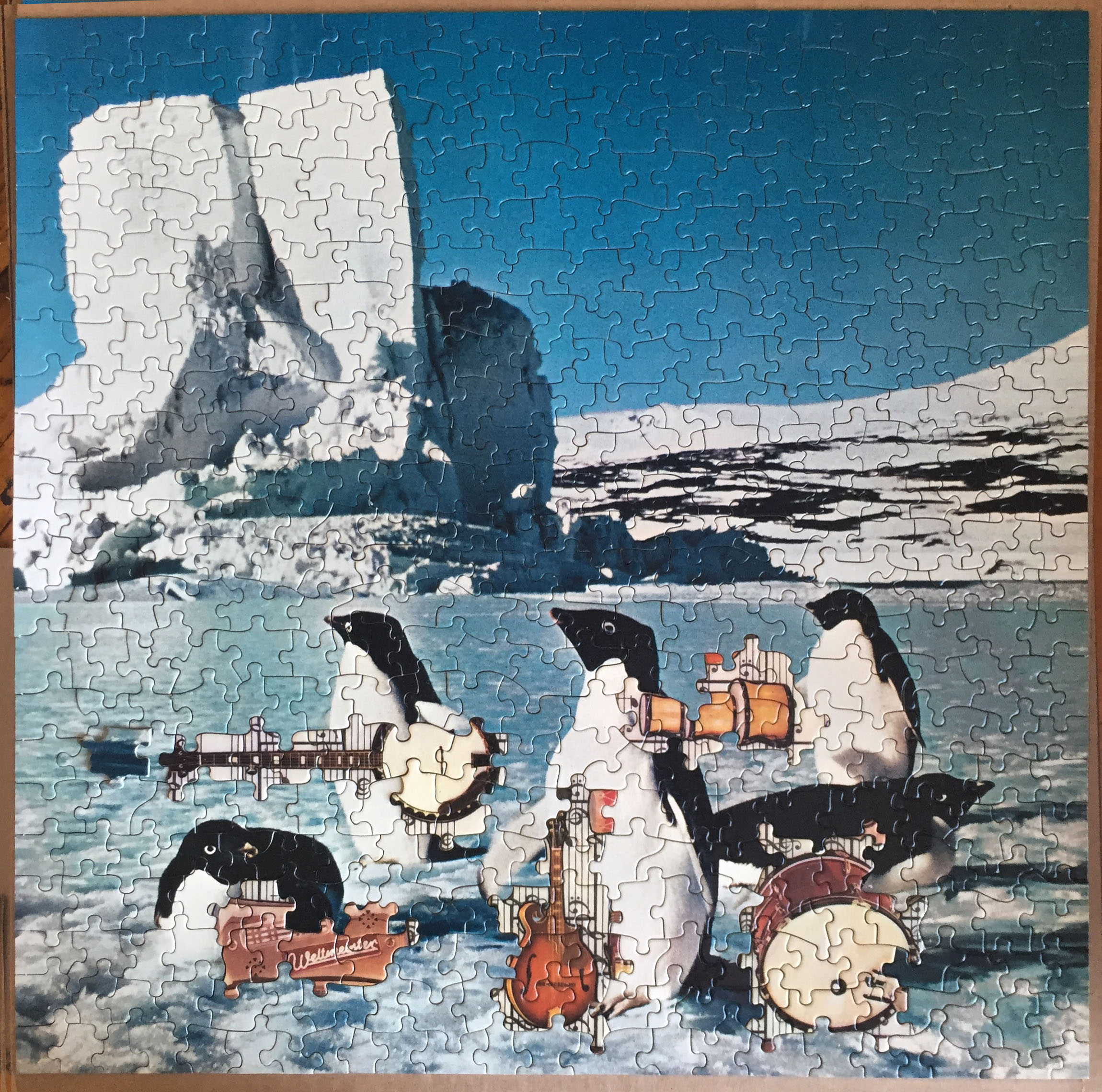 Penguin Band, jigsaw puzzle collage, 2016