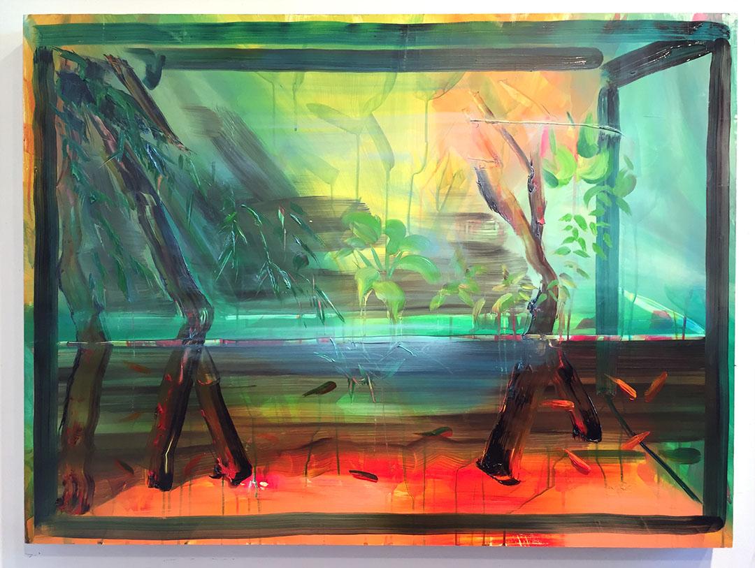"Sea Level, 30""x40"", oil on panel, 2016"