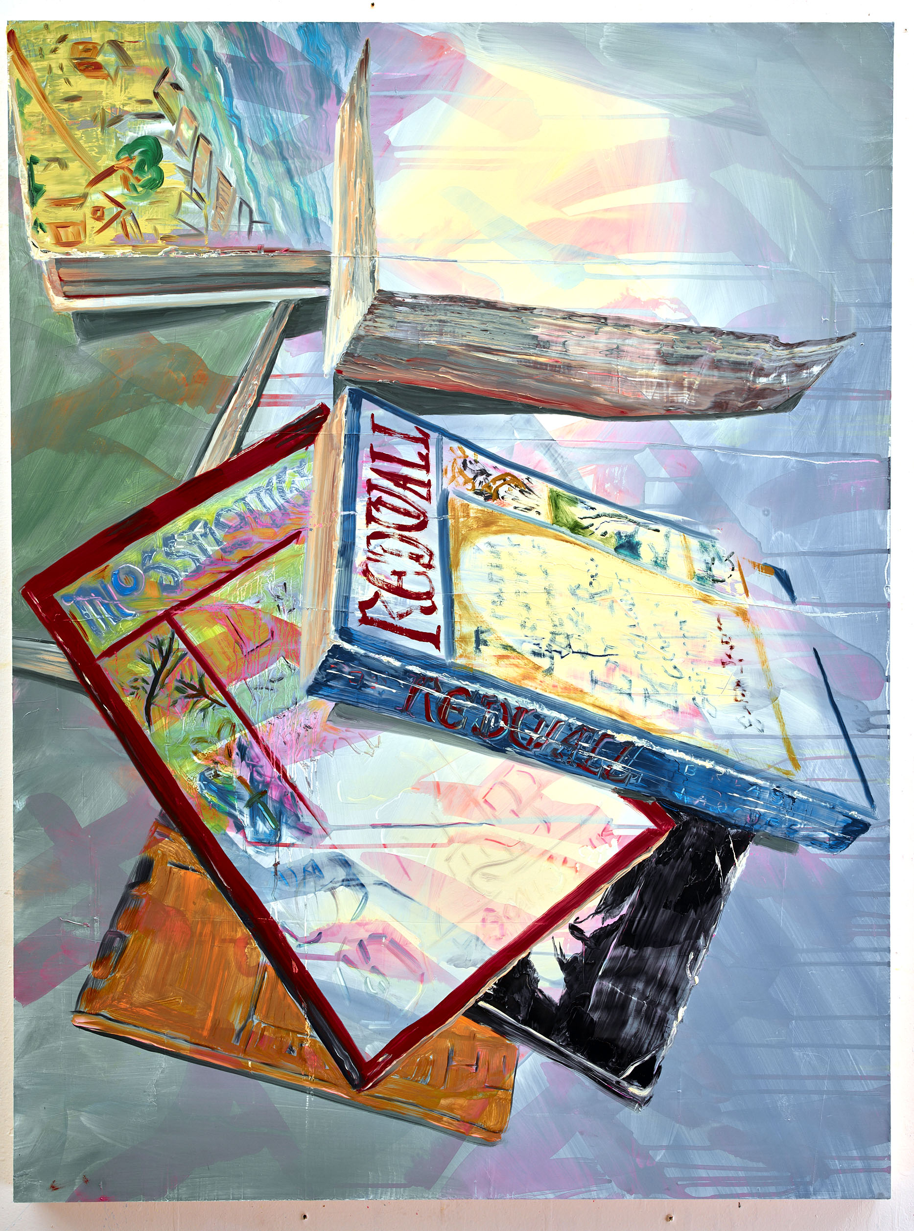 "Ralph's house, 40""x30"", oil on panel, 2017"