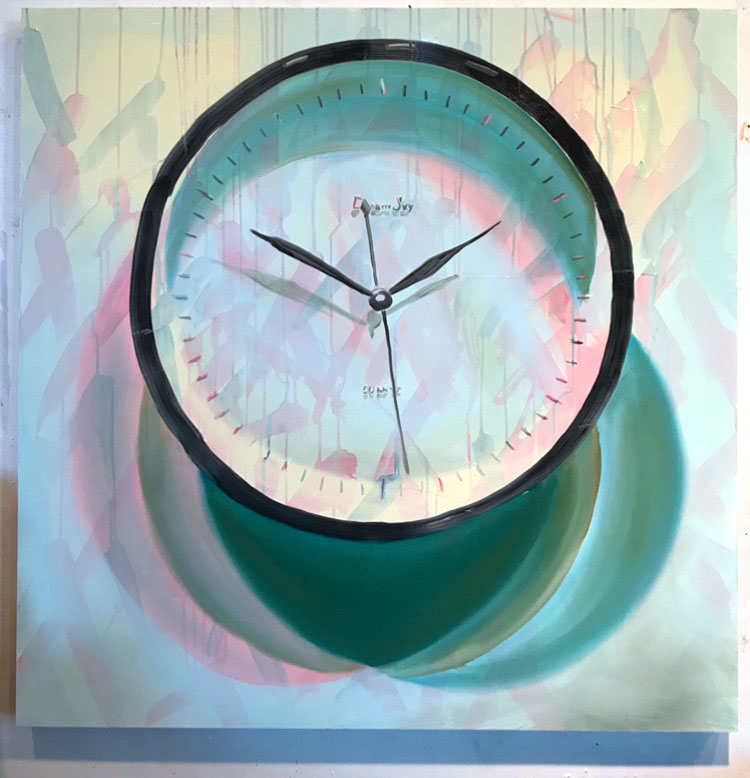 "Quartz, 40""x40"", oil on canvas, 2017"