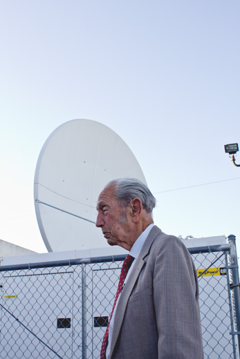 Harold Camping inside the Family Radio compound in Oakland. His previous Judgement Day prediction in 1994 proved false.