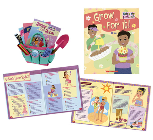 I art directed and designed this 8-book wellness series for girls.