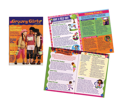 I art directed and co-designed this magazine for girls by Scholastic and Manhattan Toy.