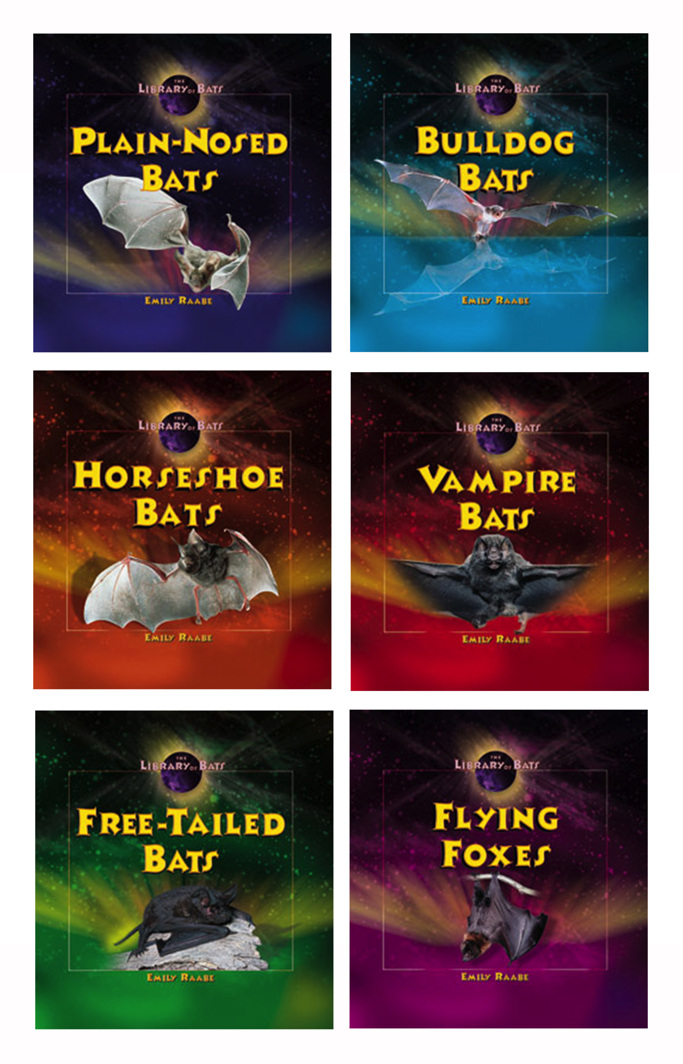 I art directed and designed this 6-book series on bats featuring the photography of bat expert Merlin Tuttle.