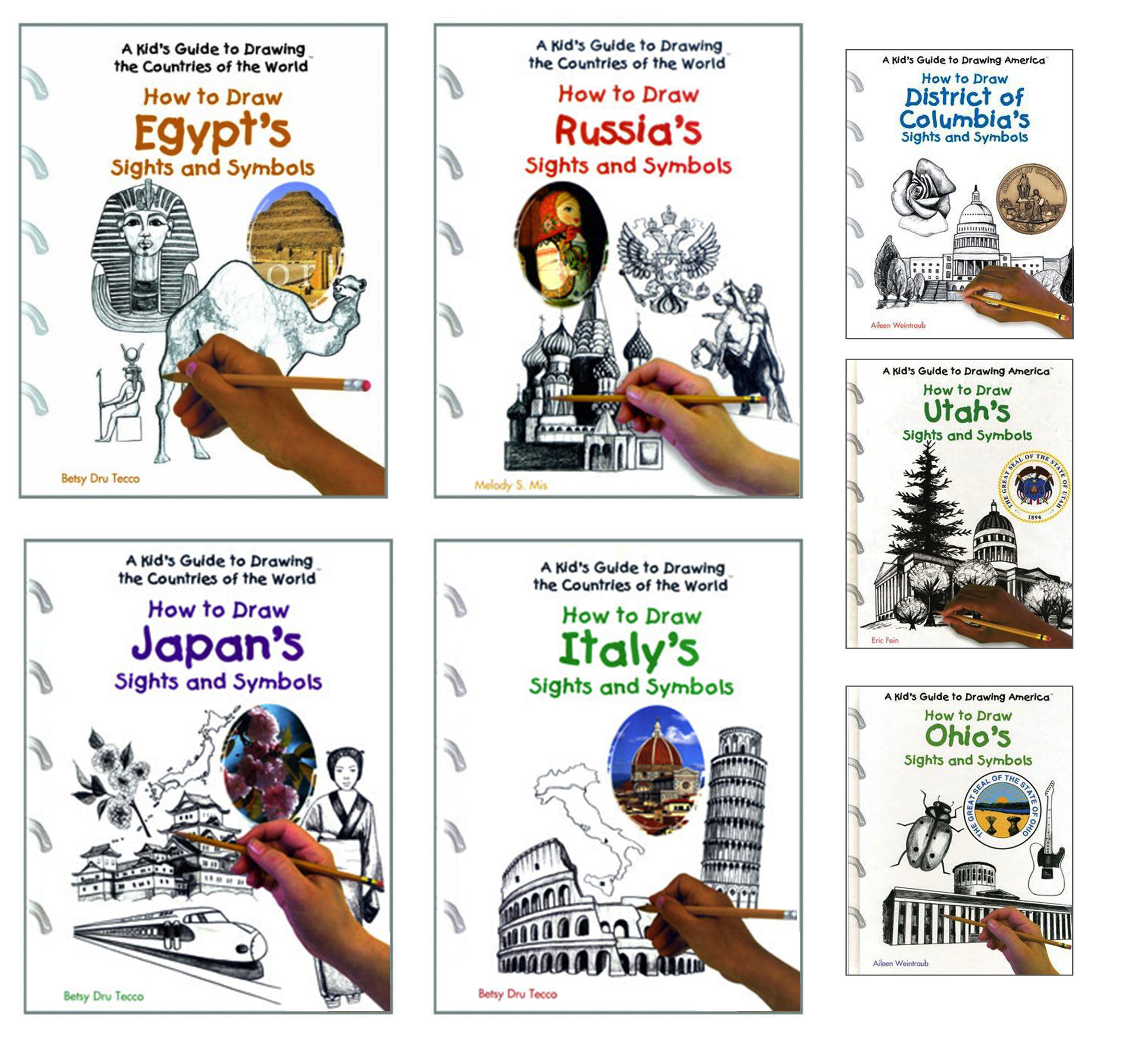 I illustrated this how-to-draw series that doubled as a lesson in geography and cultural history. I created over 200 illustrations, broken down into easy-to-follow steps.