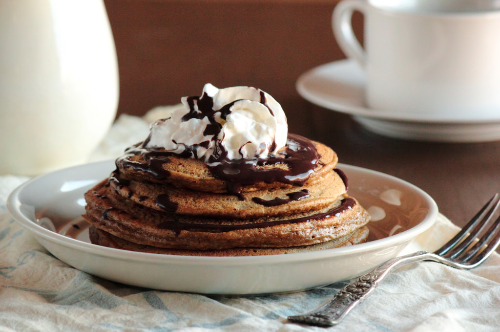 Cappuccino Pancakes with Mocha Syrup