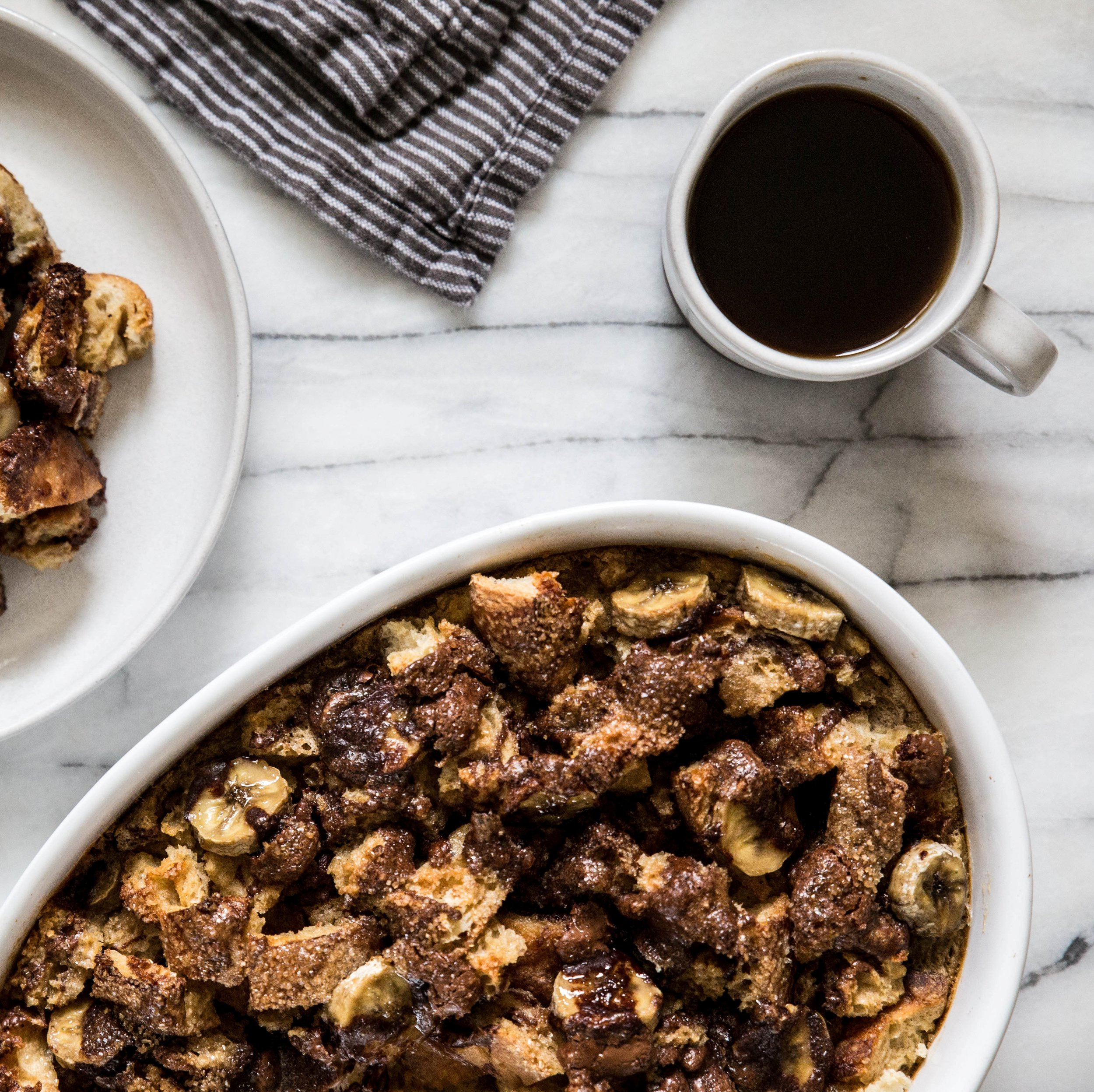 Chocolate Banana Baked French Toast