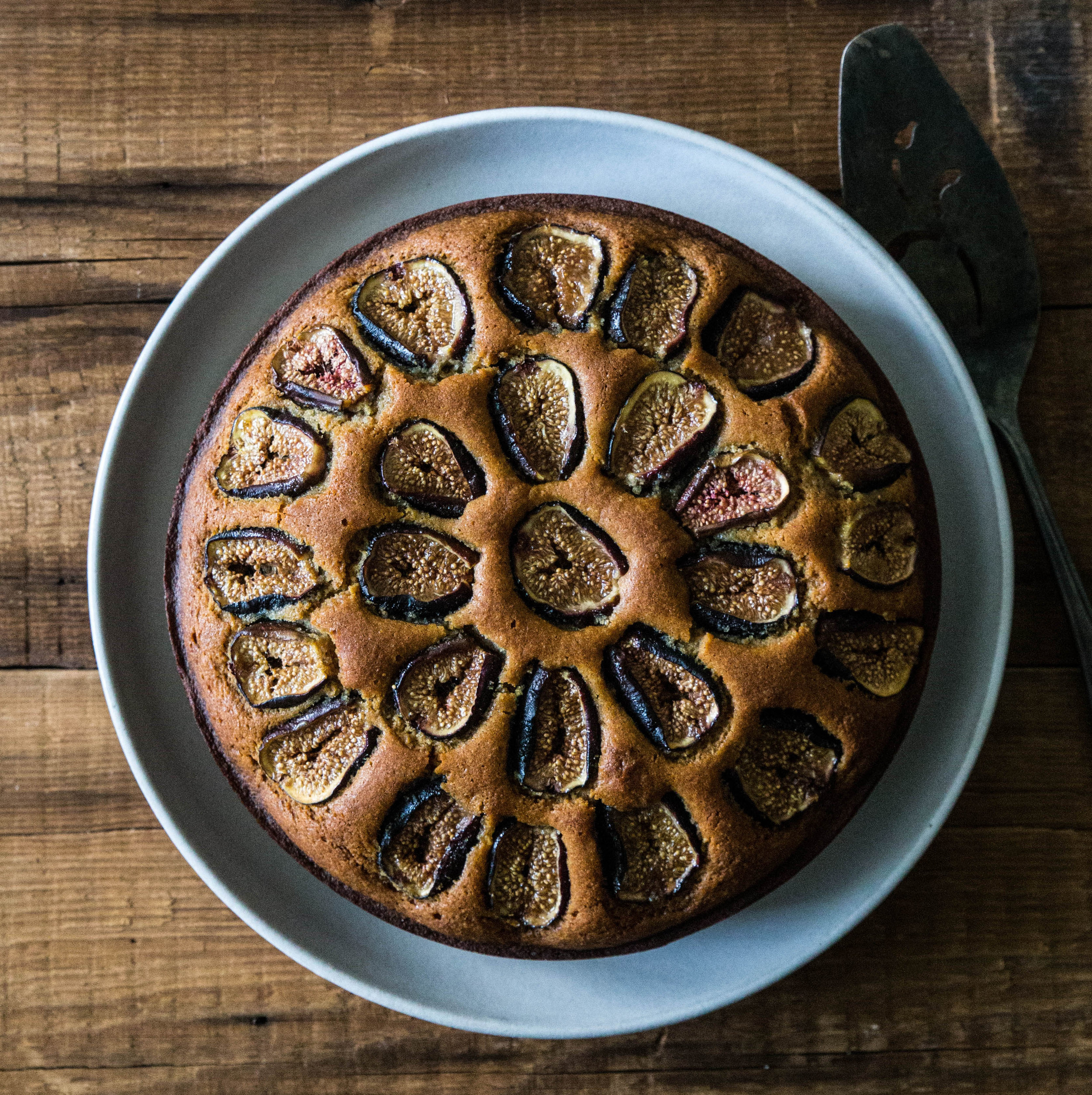 Roasted Fig & Almond Cake