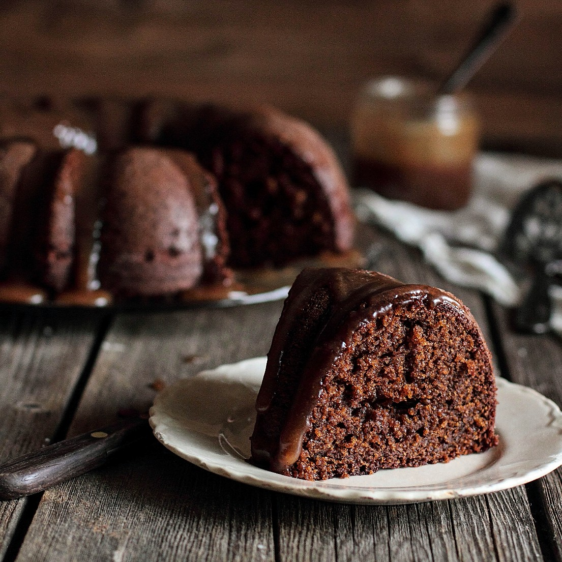 Gingerbread Bundt with Pear Caramel