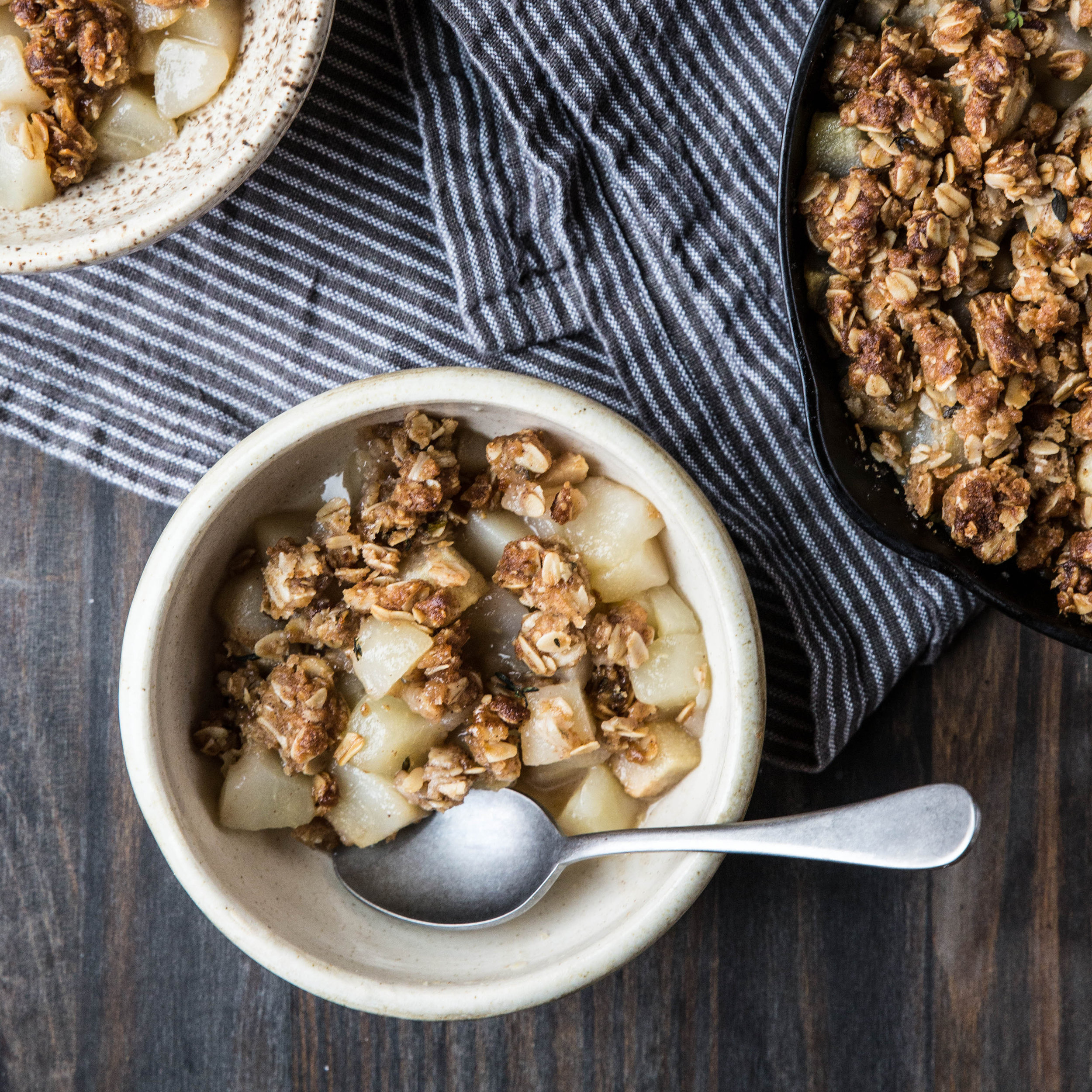 Pear Ginger Thyme Crumble