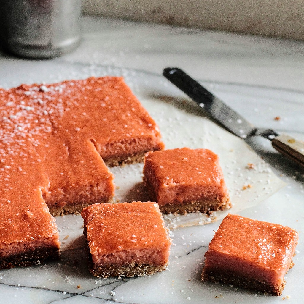 Rhubarb Ginger Bars