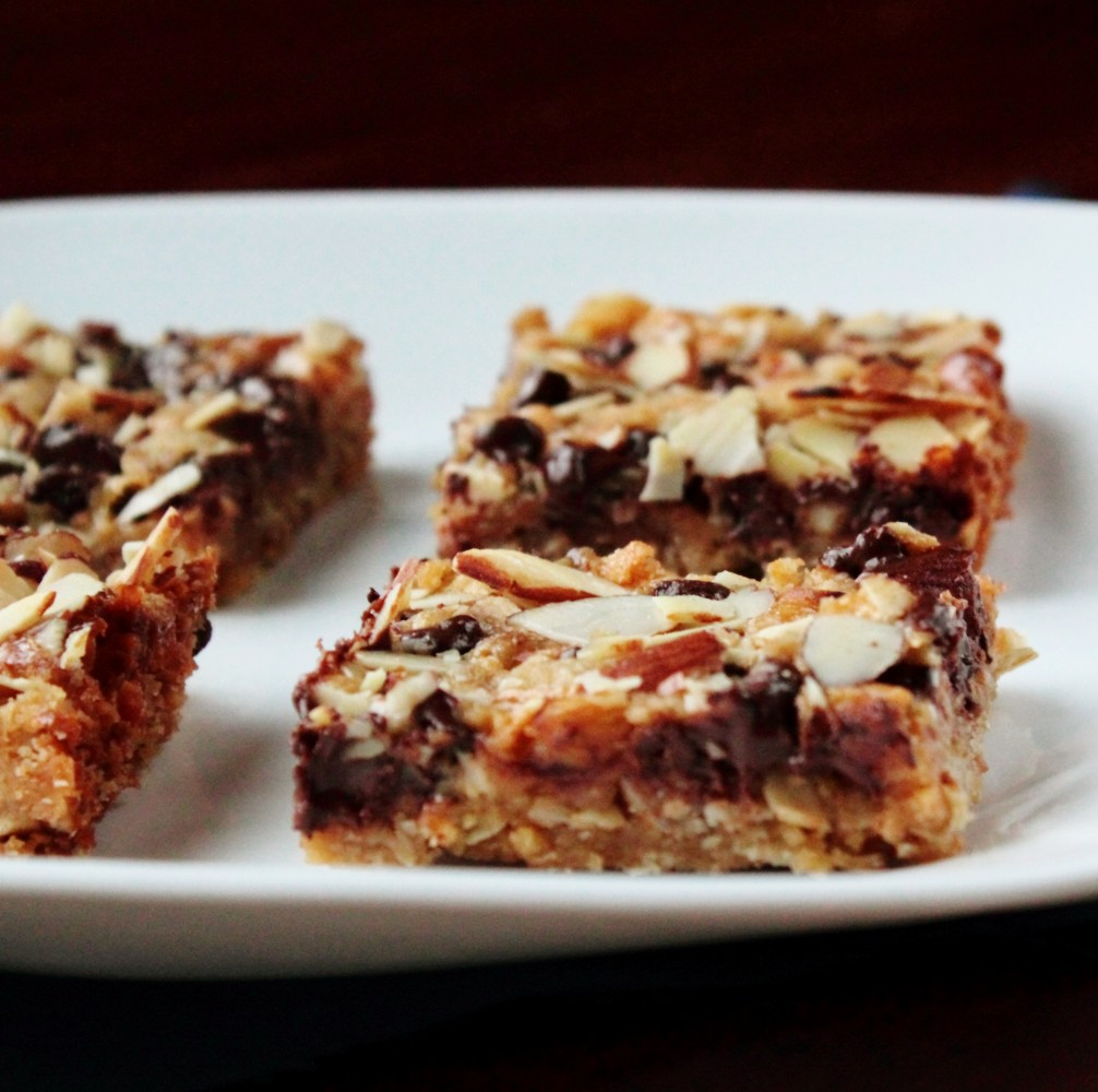 Chocolate Almond Oat Bars