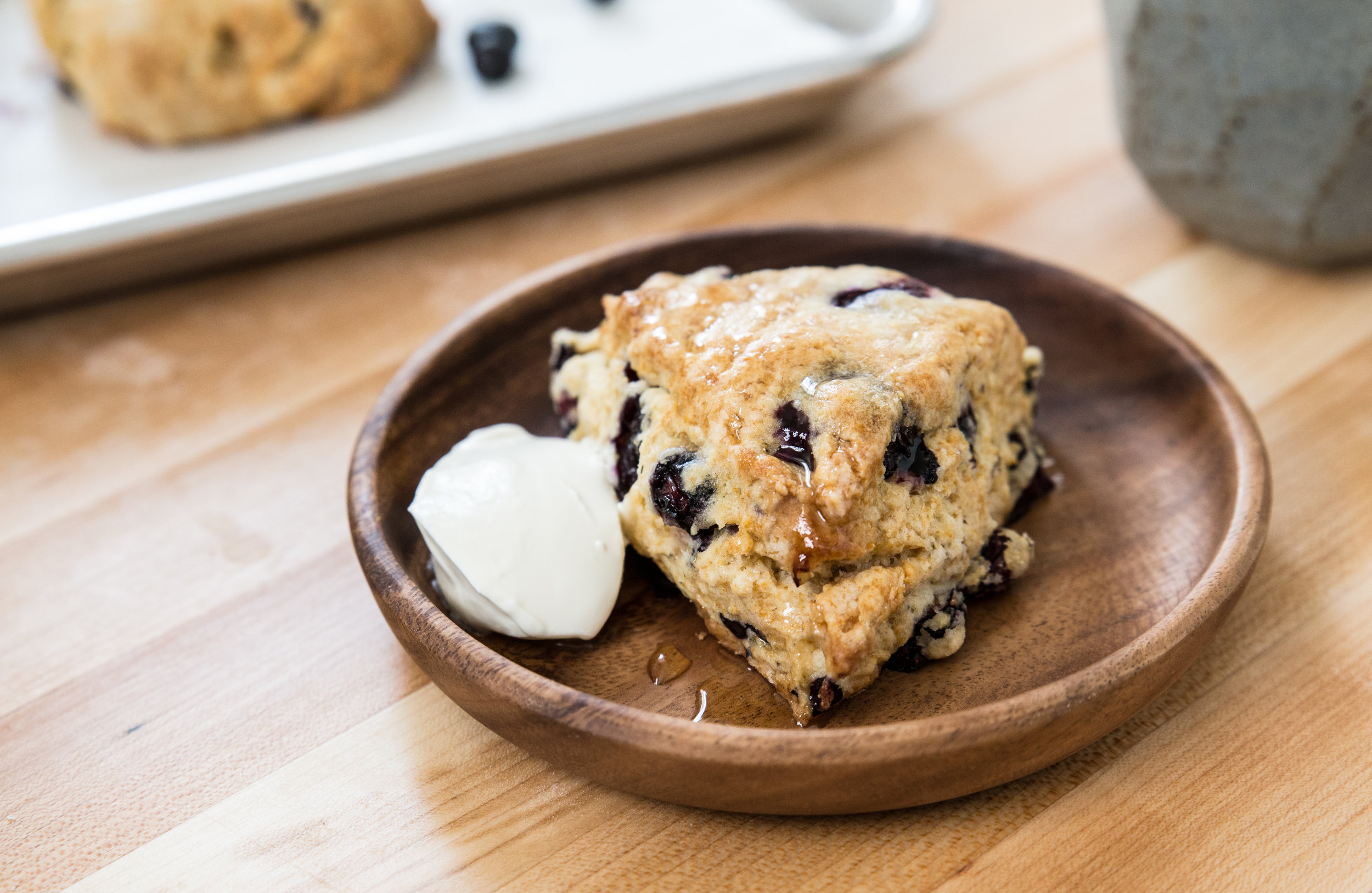 Blueberry Honey Scones
