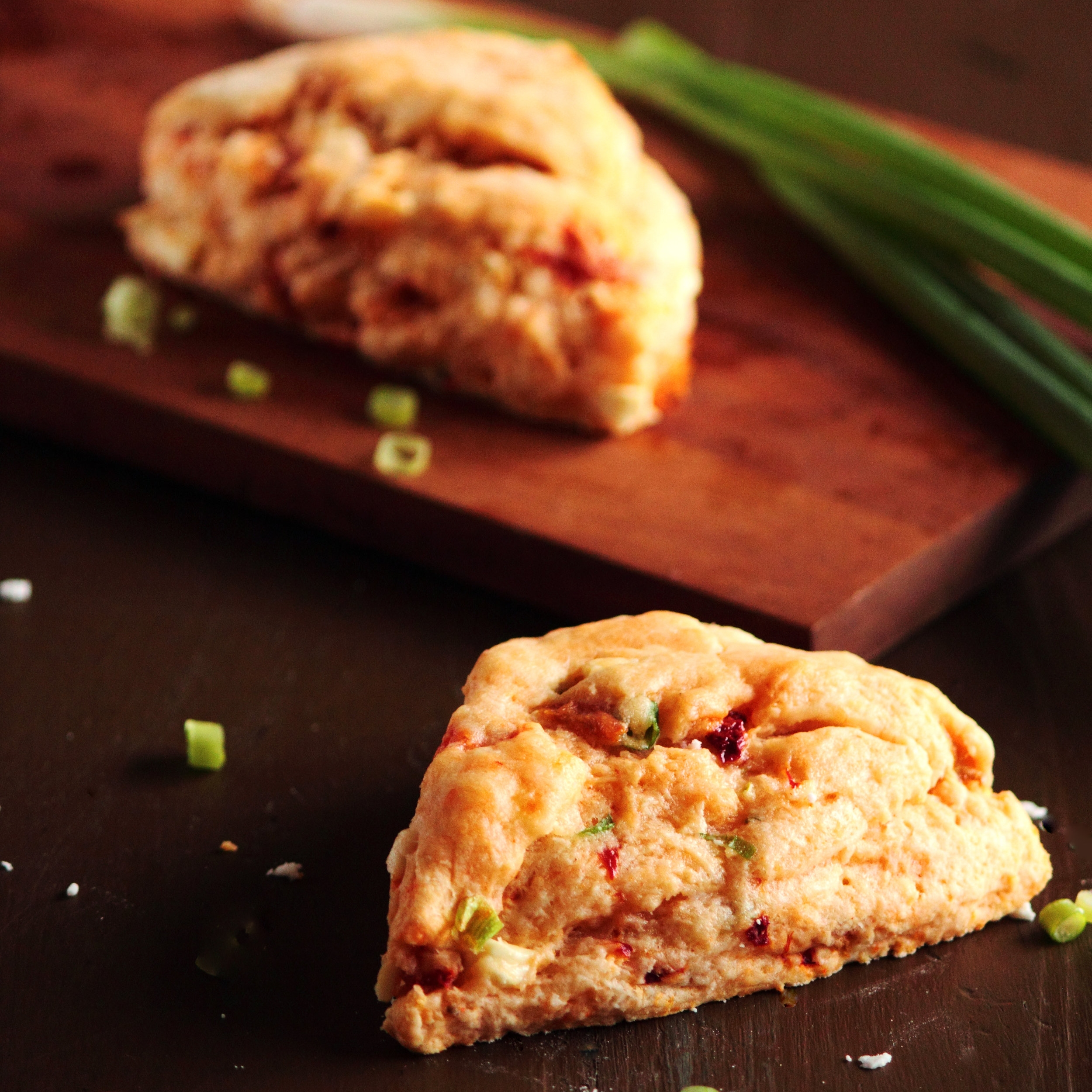Roasted Pepper Feta Scones