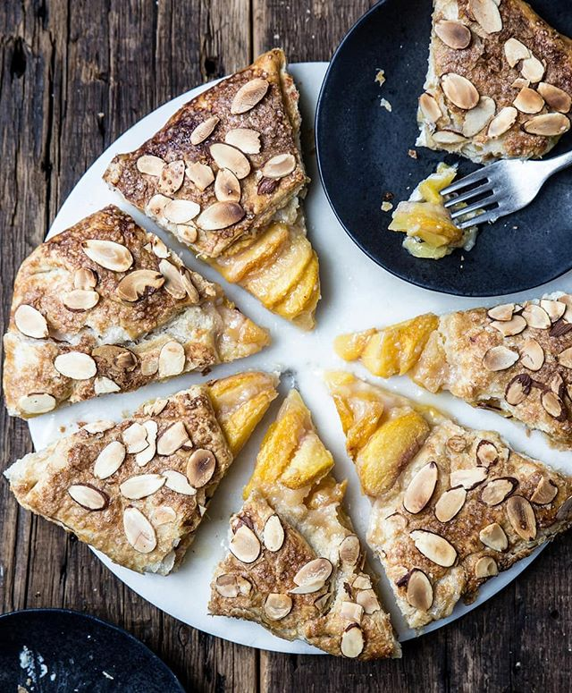 New recipe! This Peach Almond Galette is summer on a plate. The addition of almond paste takes this pastry over the top. Serve with whipped cream or a side of ice cream! - Recipe linked in profile | @pastryaffair