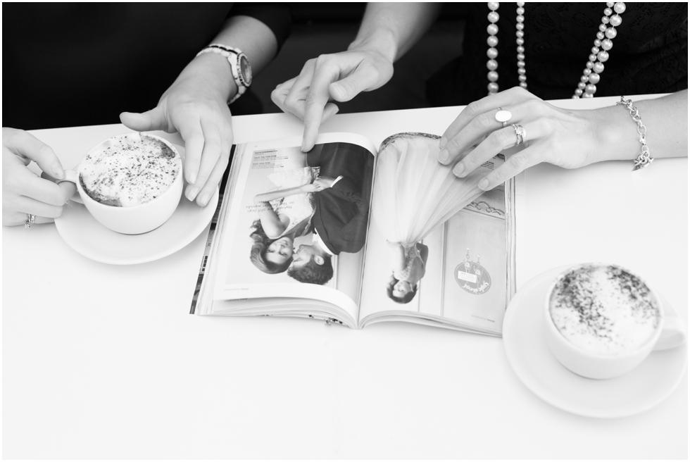suffolk headshot photographer_caroline gould wedding planner and team reading magazines