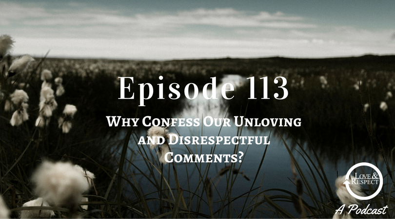 Episode 113 - Why Confess Our Unloving and Disrespectful Comments?
