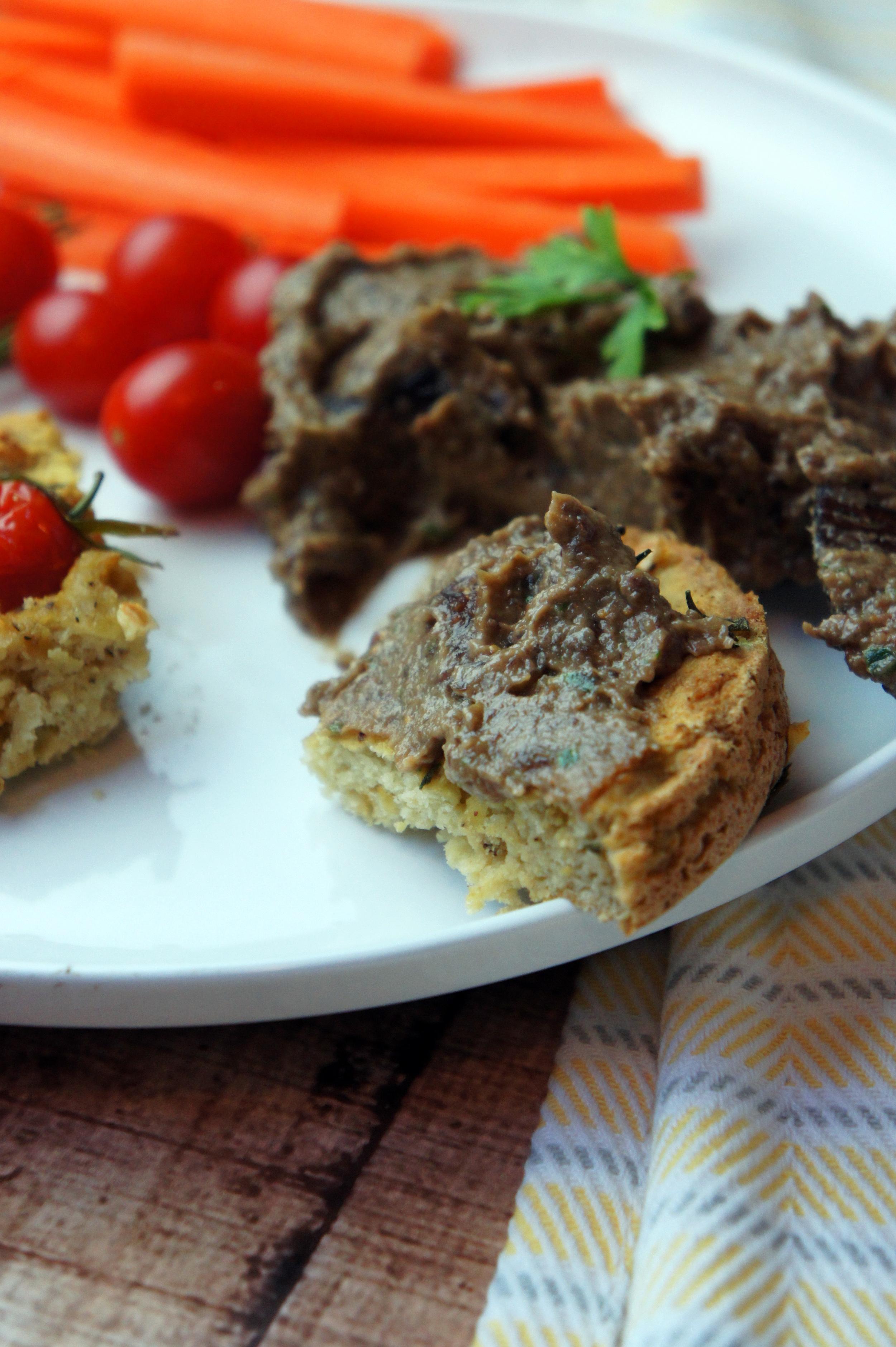 Paleo Italian Focaccia Bread with Figgy-Olive Tapenade