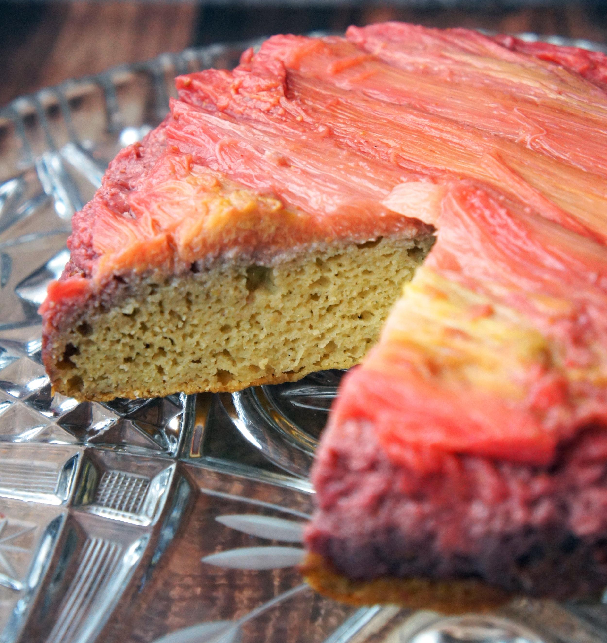 Rhubarb Upside Down Cake - GF DF