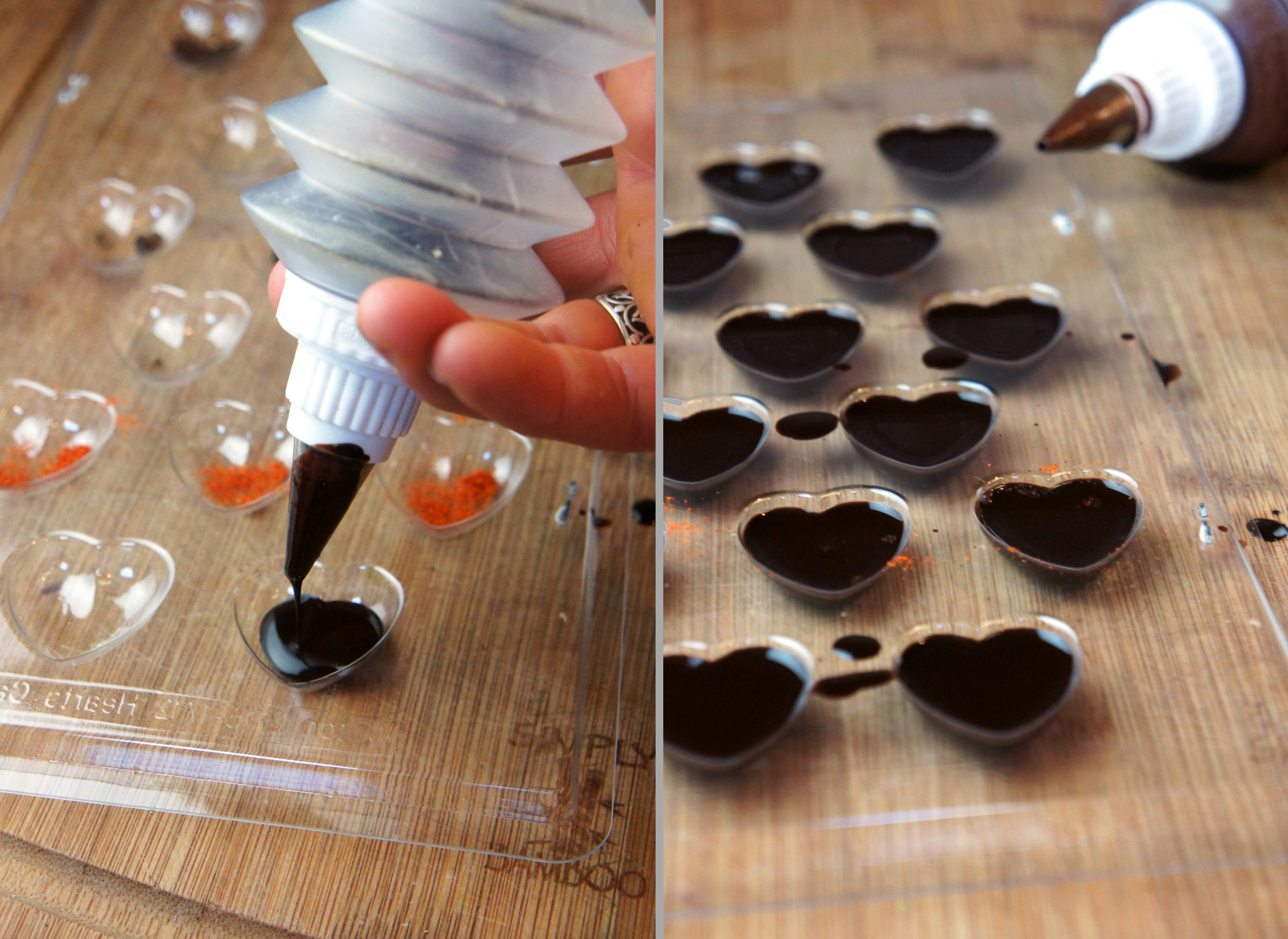 Extra Dark Homemade Chocolate Hearts (Paleo)