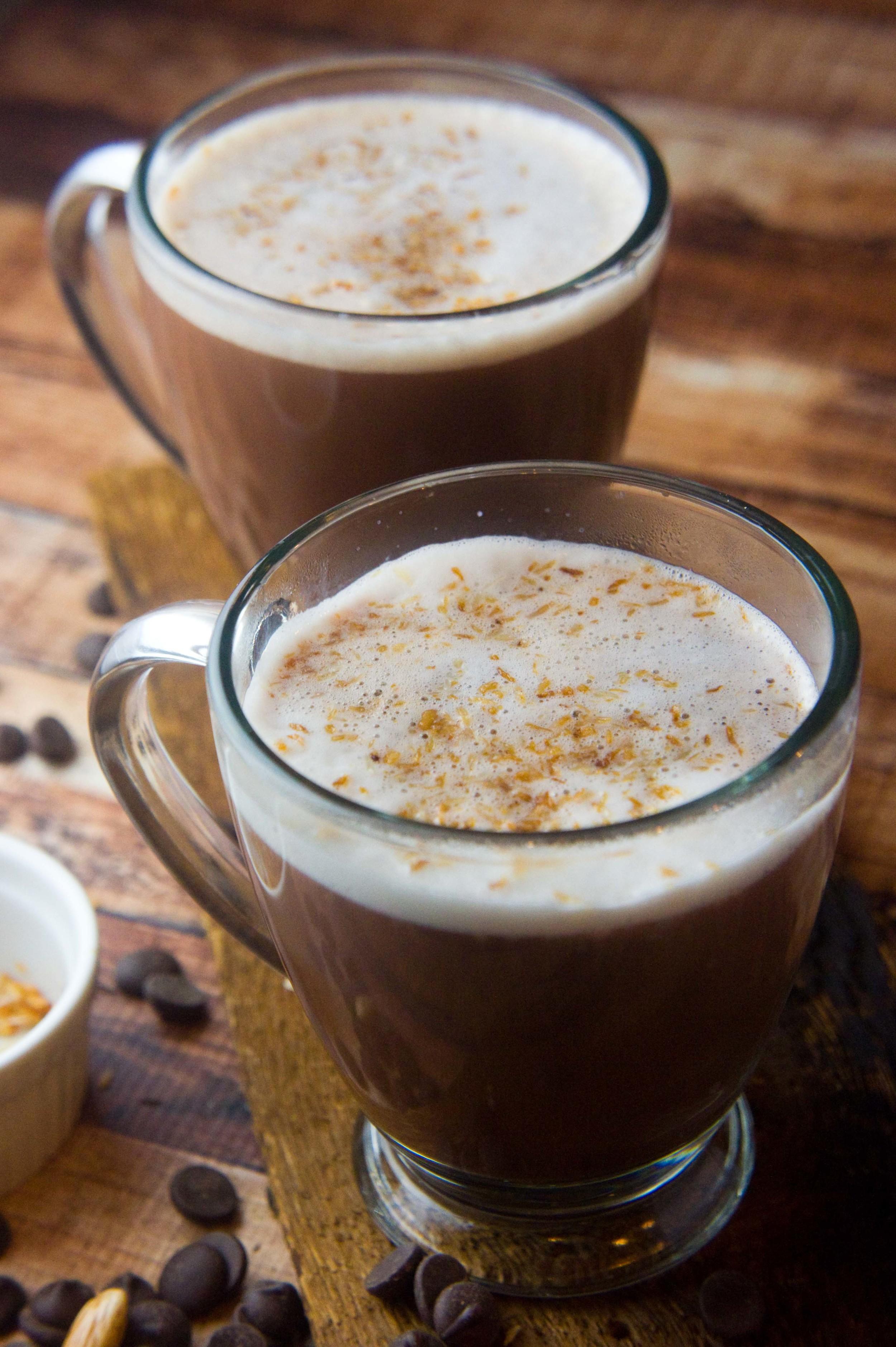 Paleo Toasted Coconut Hot Cocoa