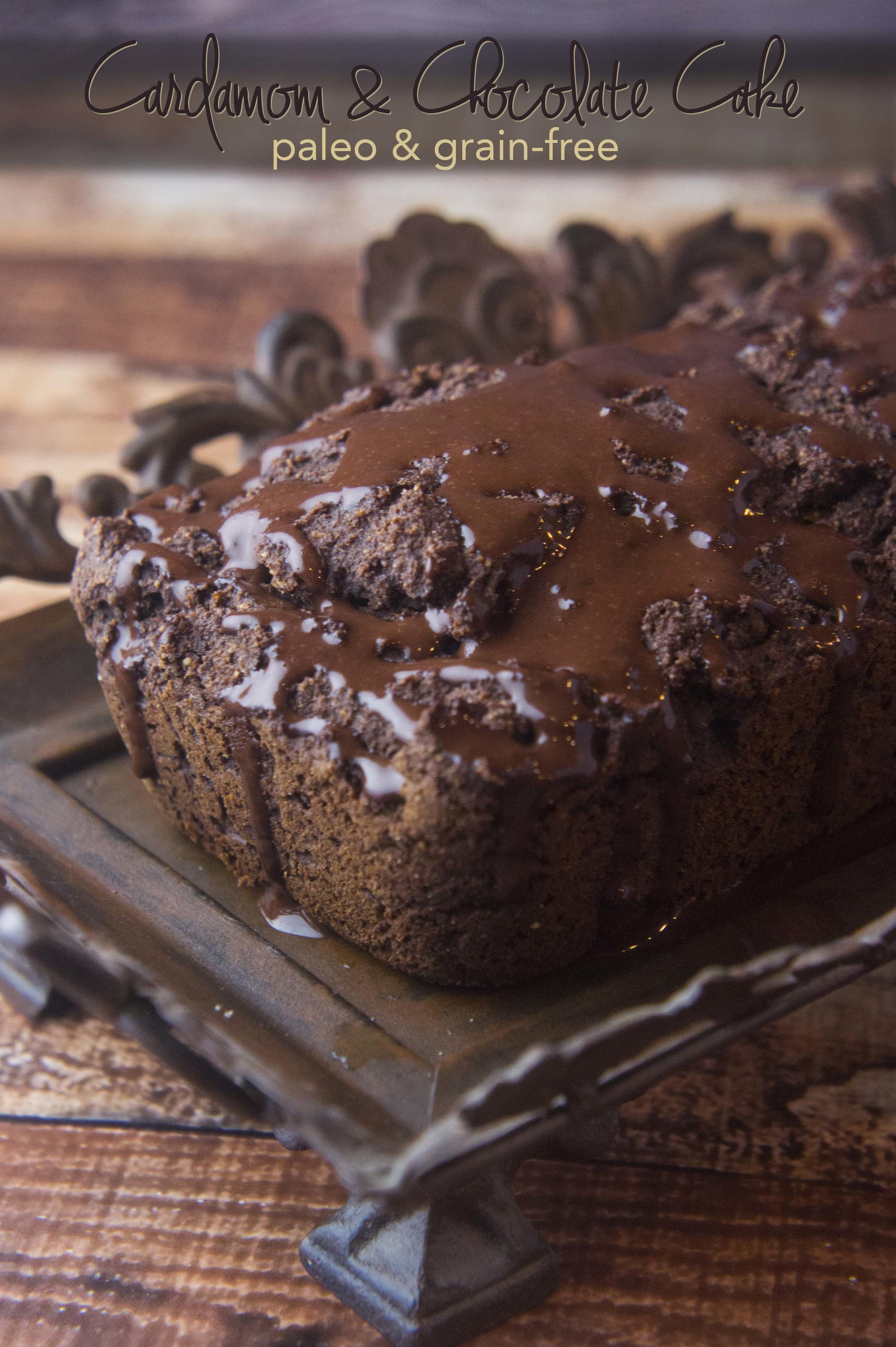 Paleo Chocolate & Cardamom Cake