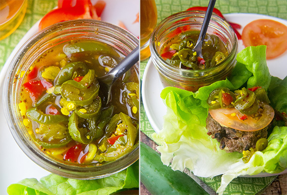 Paleo Bacon Chipotle Burger + Honeyed Jalapeños