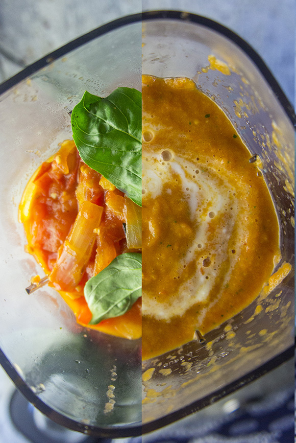 Paleo Blender Vodka Sauce with Zoodles & Italian Sausage