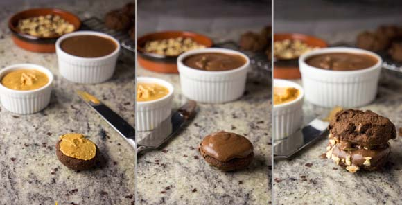 Paleo Double Chocolate Whoopie Pies with Hazelnuts