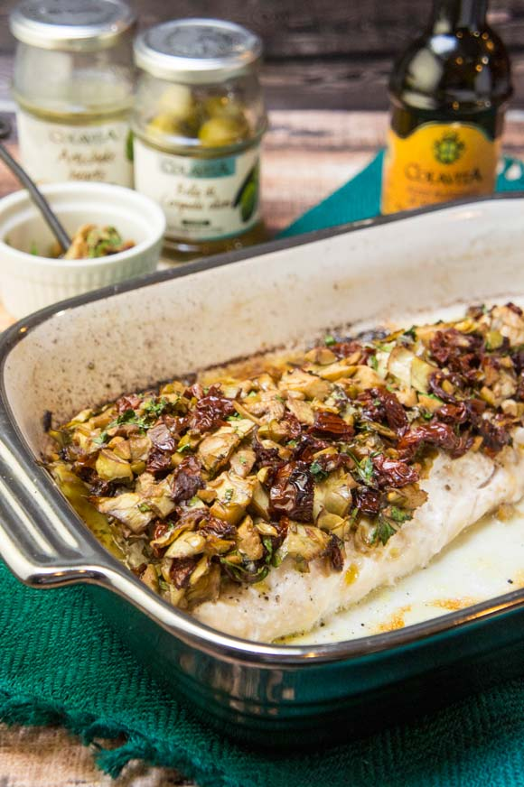 Bruschetta Baked Sea Bass