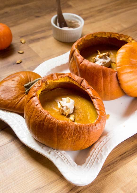 Paleo Pumpkin Pie Pumpkins
