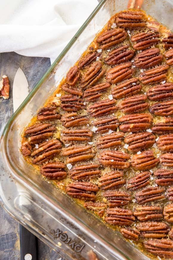 Grain-free maple pecan pie bars