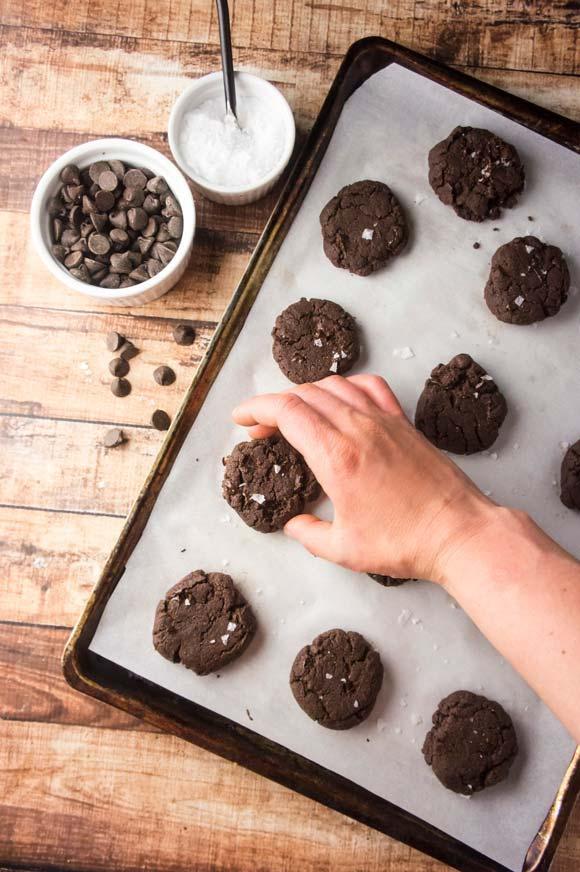 Paleo Grain-free double chocolate cookies