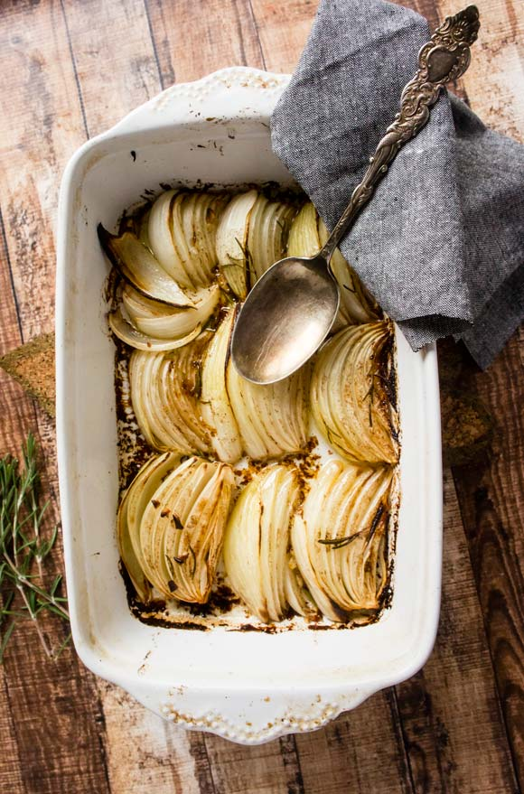 Balsamic Butter Roasted Onions