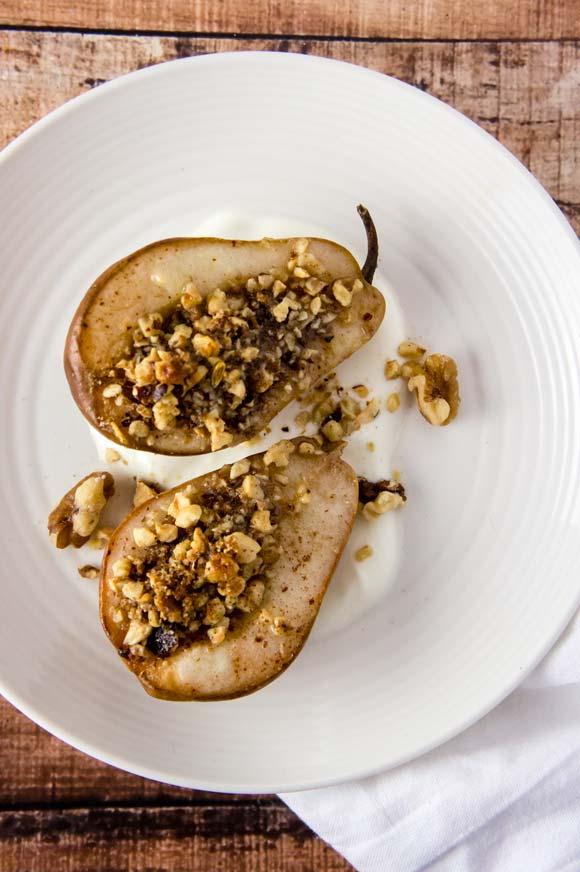 Baklava Stuffed Pears